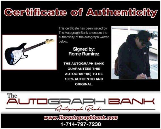 Rome Ramirez proof of signing certificate