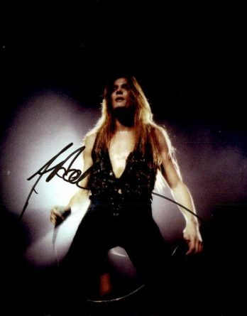 Sebastian Bach authentic signed 8x10 picture