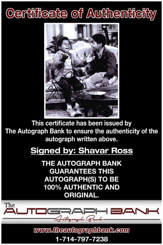 Shavar Ross proof of signing certificate