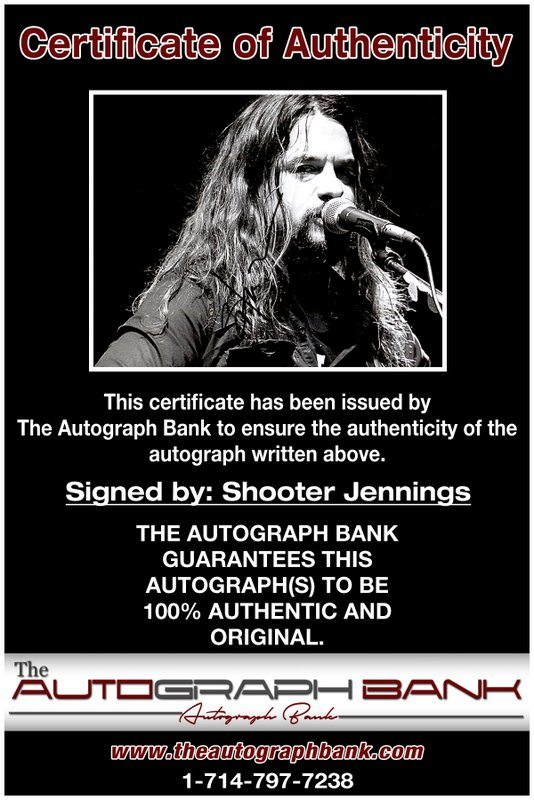Shooter Jennings proof of signing certificate