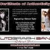 Steven Tyler proof of signing certificate