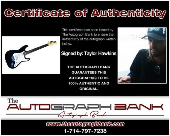 Taylor Hawkins proof of signing certificate