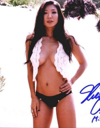Playboy Bunny Hiromi Oshima authentic signed 8x10 picture