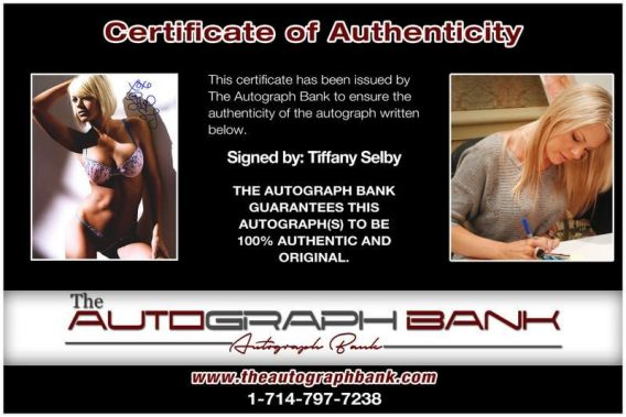 Tiffany Selby proof of signing certificate