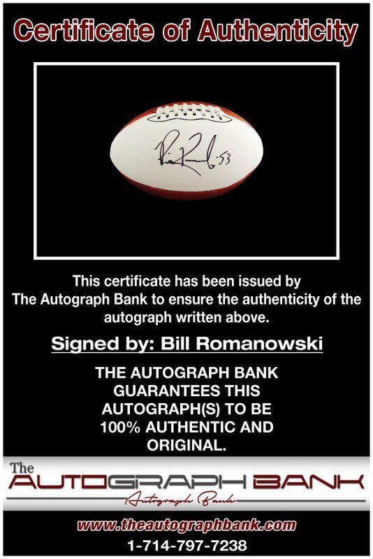 Bill Romanowski proof of signing certificate