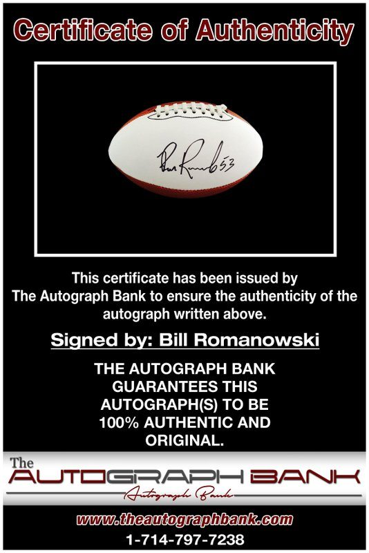 Bill Romanowski proof of signing certificate