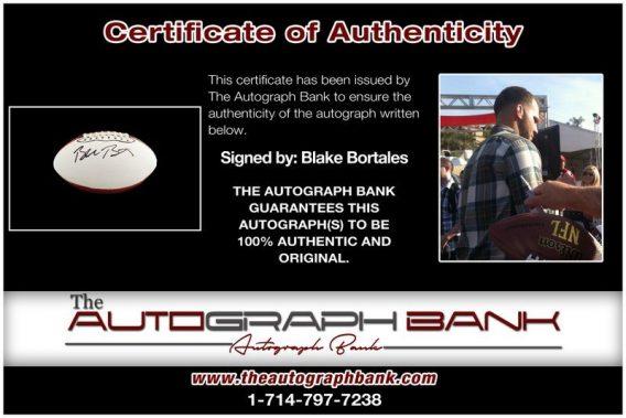 Blake Bortles proof of signing certificate