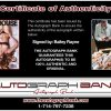 Bailey Rayne certificate of authenticity from the autograph bank