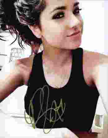 Becky G authentic signed 8x10 picture