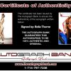 Bella Thorne certificate of authenticity from the autograph bank
