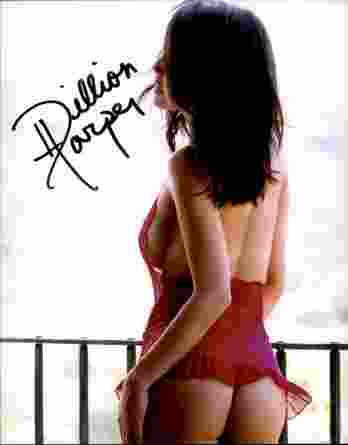 Dillion Harper authentic signed 8x10 picture