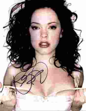 Rose Mcgowan authentic signed 8x10 picture
