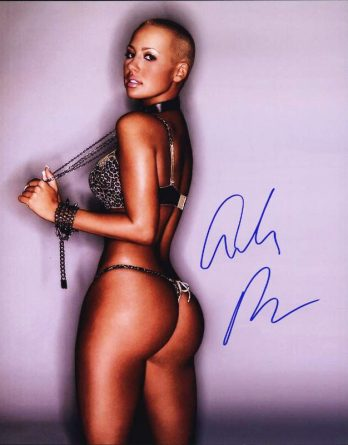 Amber Rose authentic signed 8x10 picture