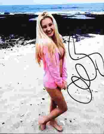 Ava Sambora authentic signed 8x10 picture