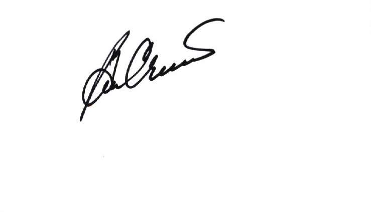 Ben Crenshaw authentic signed note card