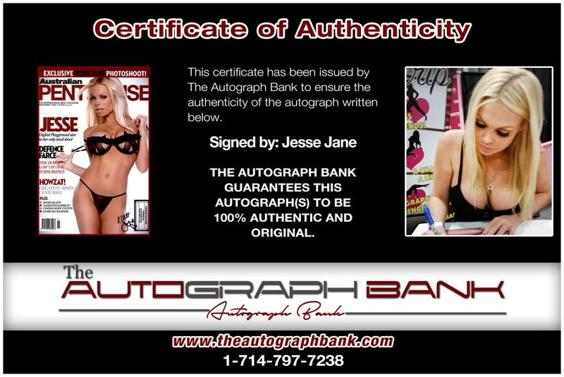 Jesse Jane Signed Sexy 10x15 Free Ship The Autograph Bank