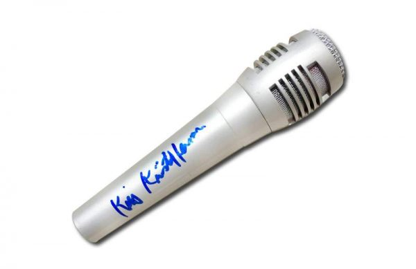 Kris Kristofferson authentic signed microphone