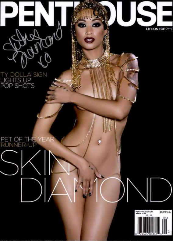 Skin Diamond authentic signed 10x15 picture