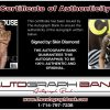 Skin Diamond certificate of authenticity from the autograph bank