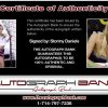 Stormy Daniels certificate of authenticity from the autograph bank