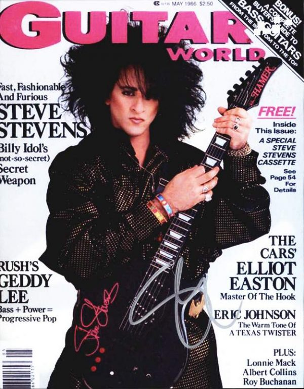 Steve Stevens authentic signed 8x10 picture