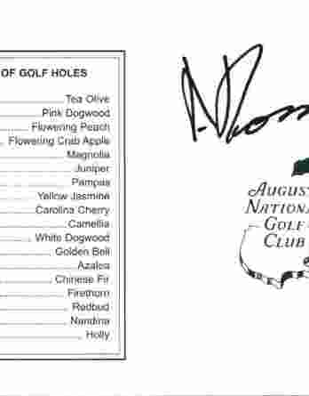 Andres Romero authentic signed Masters Score card