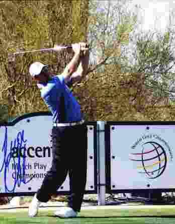 Arron Oberholser authentic signed 8x10 picture