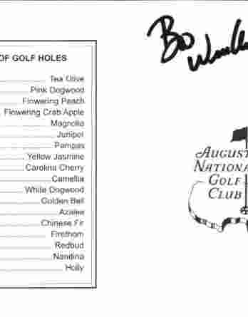 Boo Weekley authentic signed Masters Score card