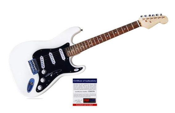Chris Daughtry authentic signed guitar
