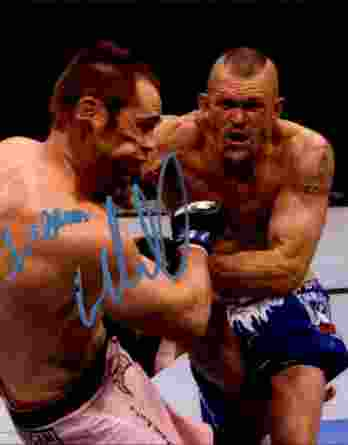 Chuck Liddel authentic signed 8x10 picture