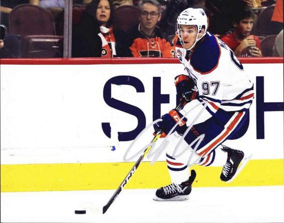 Connor Mcdavid authentic signed 8x10 picture