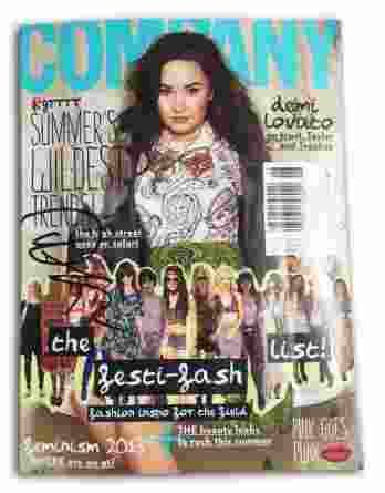 Demi Lovato authentic signed magazine