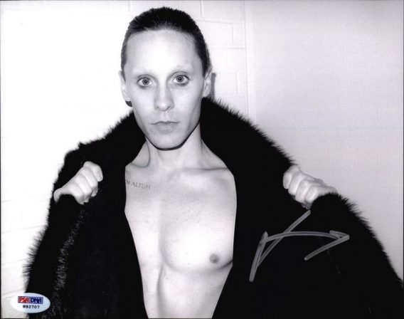 Jared Leto authentic signed 8x10 picture