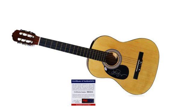 Jason Mraz authentic signed guitar
