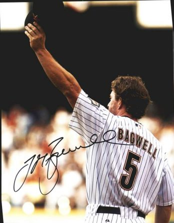 Jeff Bagwell authentic signed 11x14 picture
