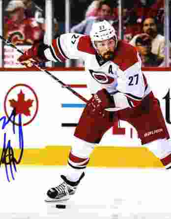 Justin Faulk authentic signed 8x10 picture
