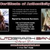 Kennedy Summers certificate of authenticity from the autograph bank