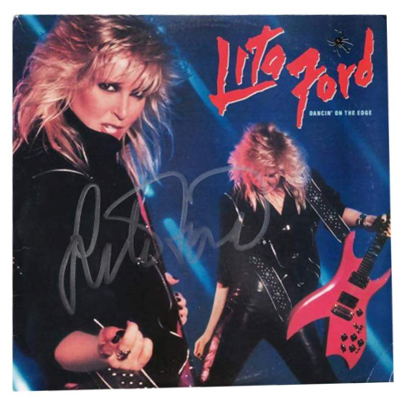 lita ford signed authentic album free ship the autograph bank. Black Bedroom Furniture Sets. Home Design Ideas