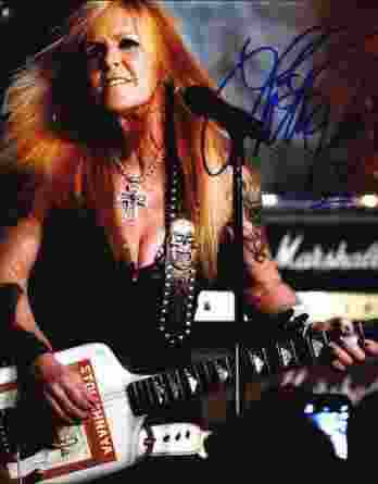Lita Ford authentic signed 10x15 picture