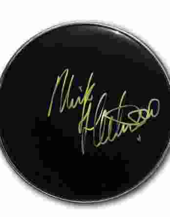 Mick Fleetwood authentic signed drumhead