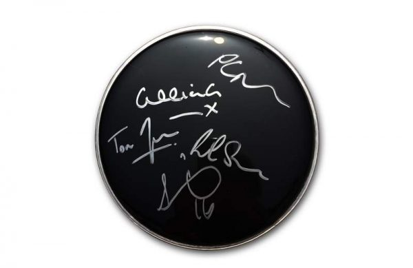 New Order authentic signed drumhead