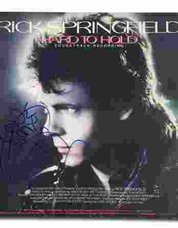 Rick Springfield authentic signed album