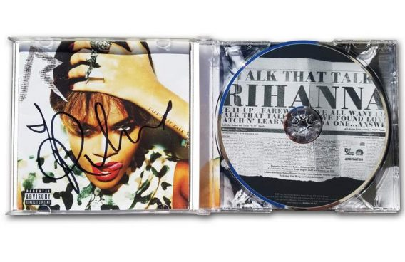 Rihanna authentic signed cd