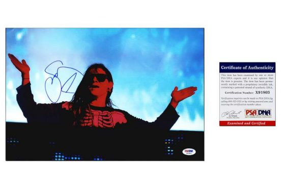 Skrillex certificate of authenticity from the autograph bank