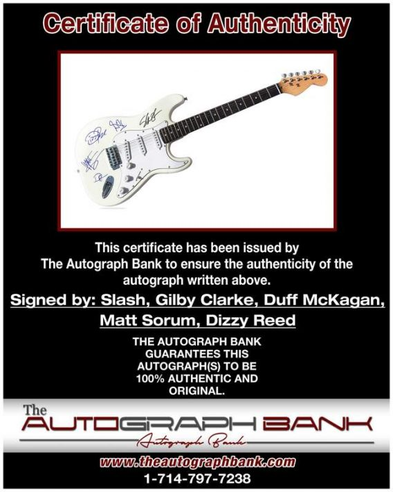 Gilby authentic signed guitar