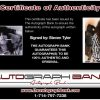 Steven Tyler certificate of authenticity from the autograph bank