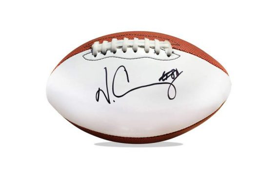 Victor Cruz authentic signed NFL ball
