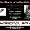 Lil Boosie certificate of authenticity from the autograph bank