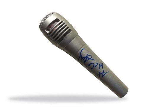 Wish Bone authentic signed microphone