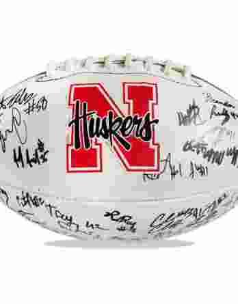 Nebraska Corhuskers authentic signed football